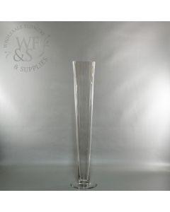 """Clear Glass Pilsner Vase 24 """""""