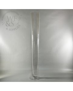 """Clear Glass Pilsner Vase  32"""""""