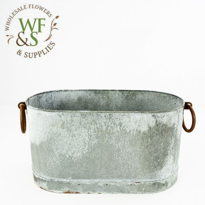 Weathered Oval Wash Buckets Wholesale Metal Buckets On Discount Wholesale Flowers Supplies Wholesale Flowers And Supplies